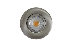 DLSGR3-814WD-BN – 3 INCH.  ROUND INTEGRATED LED GIMBAL RECESSED LIGHT, TRIAC WARM DIMMABLE, 8W, 120V, 4000K, 600LM, BRUSHED NICKEL