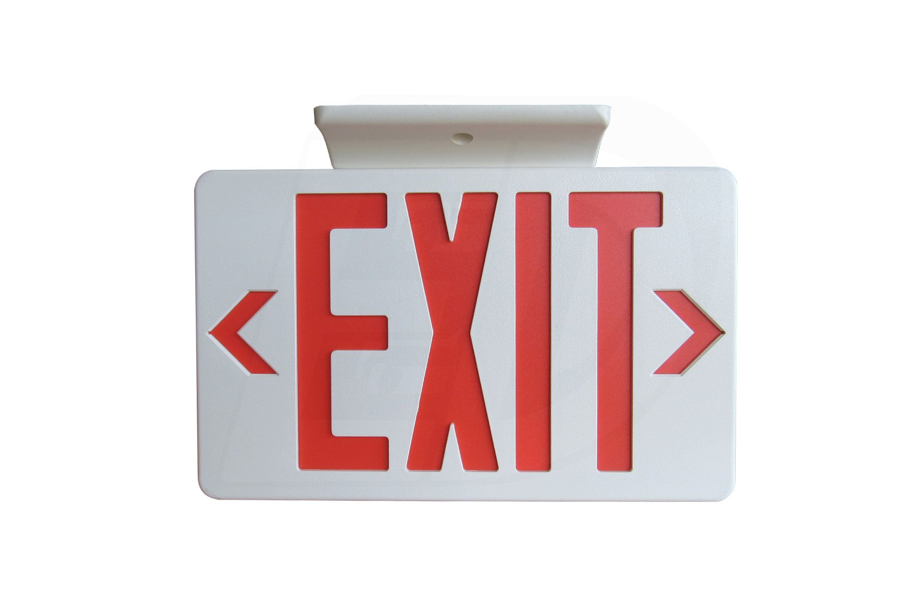 EX100WH-A13RU - LED RED LETTER EXIT SIGN