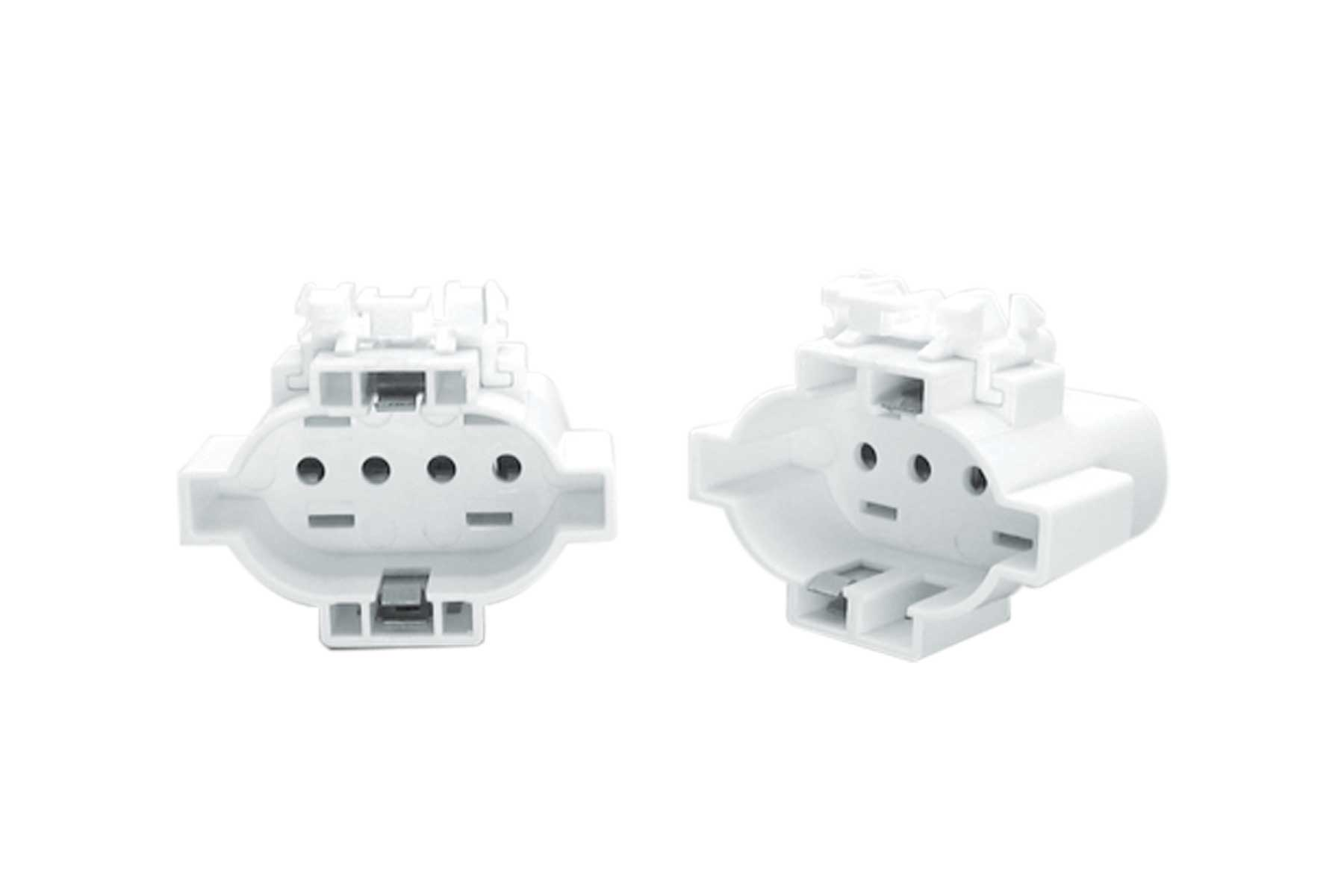 2GX7 CFL Light Socket - Horizontal Snap-in Mount