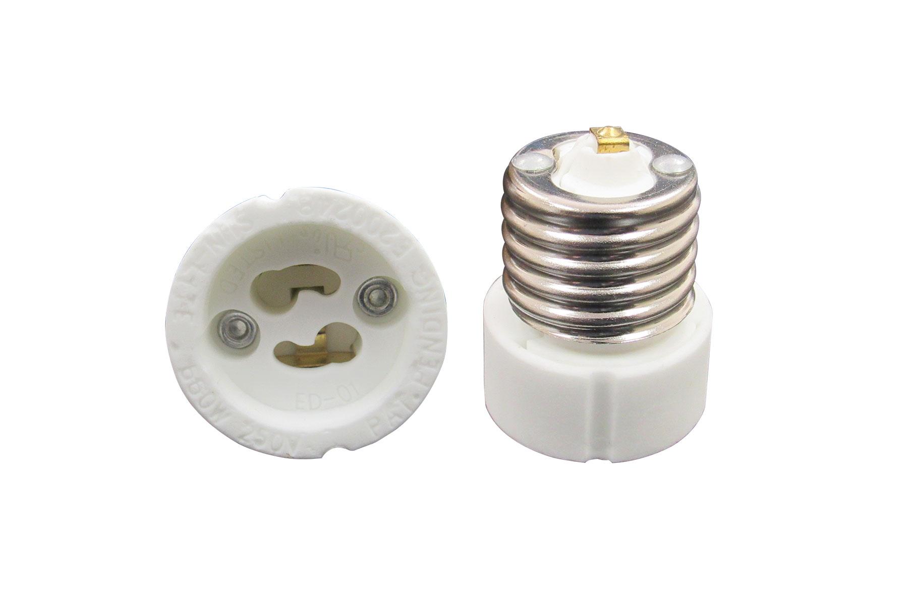 E27 to GU10 Light Bulb Socket Adapter