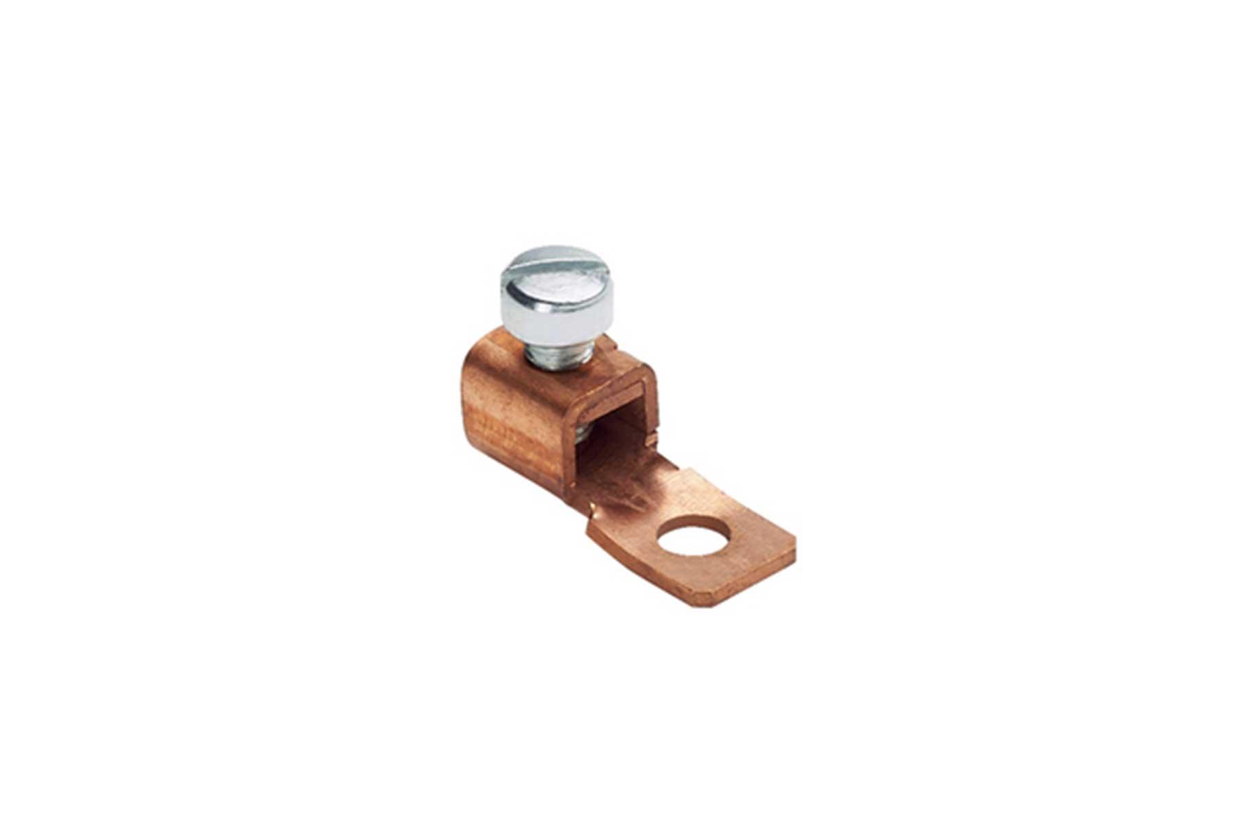 1 Hole Solderless Copper Mechanical Lug - Fixed Tongue