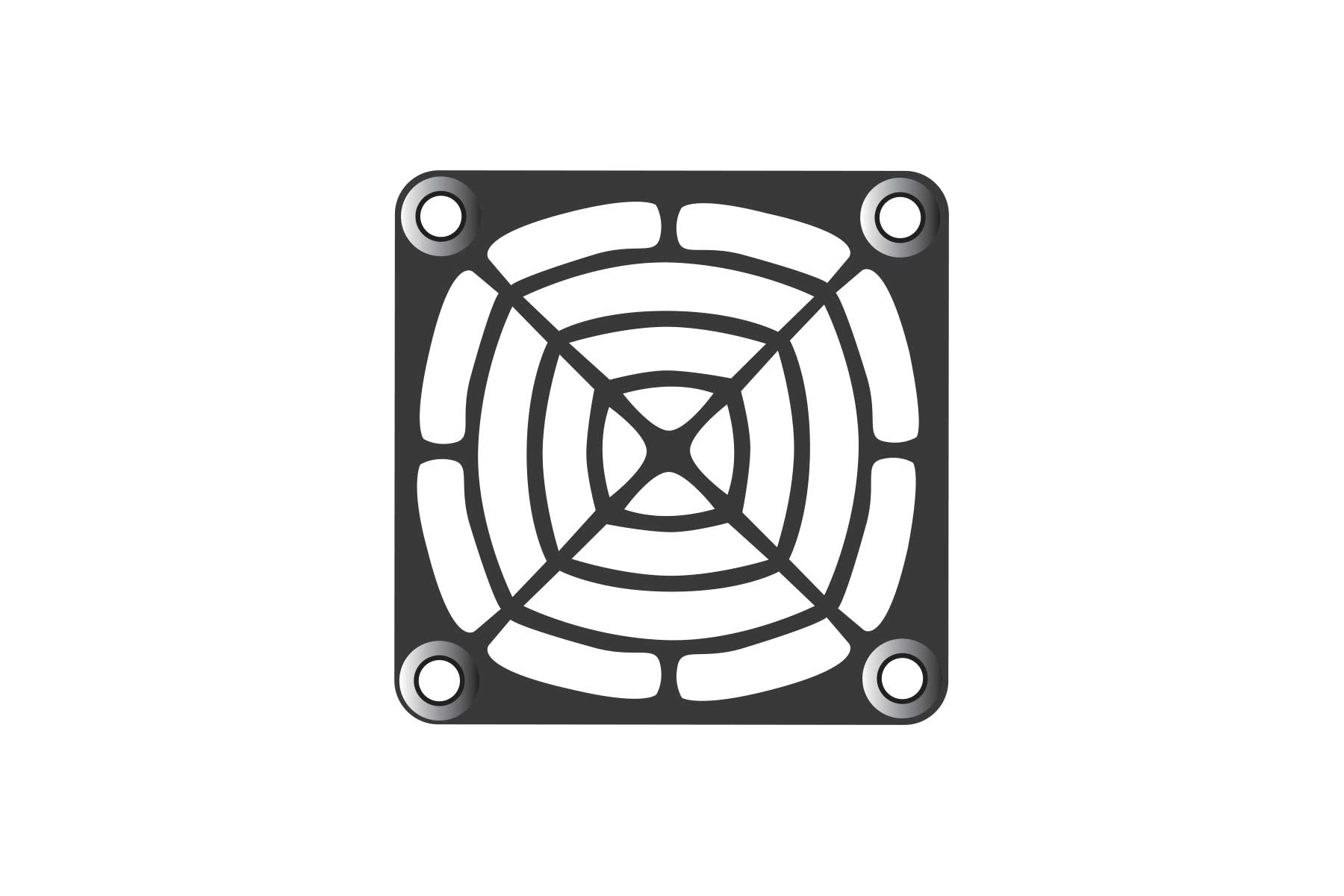Square Axial Fan Filter Kit - PU Foam 30 or 45 PPI