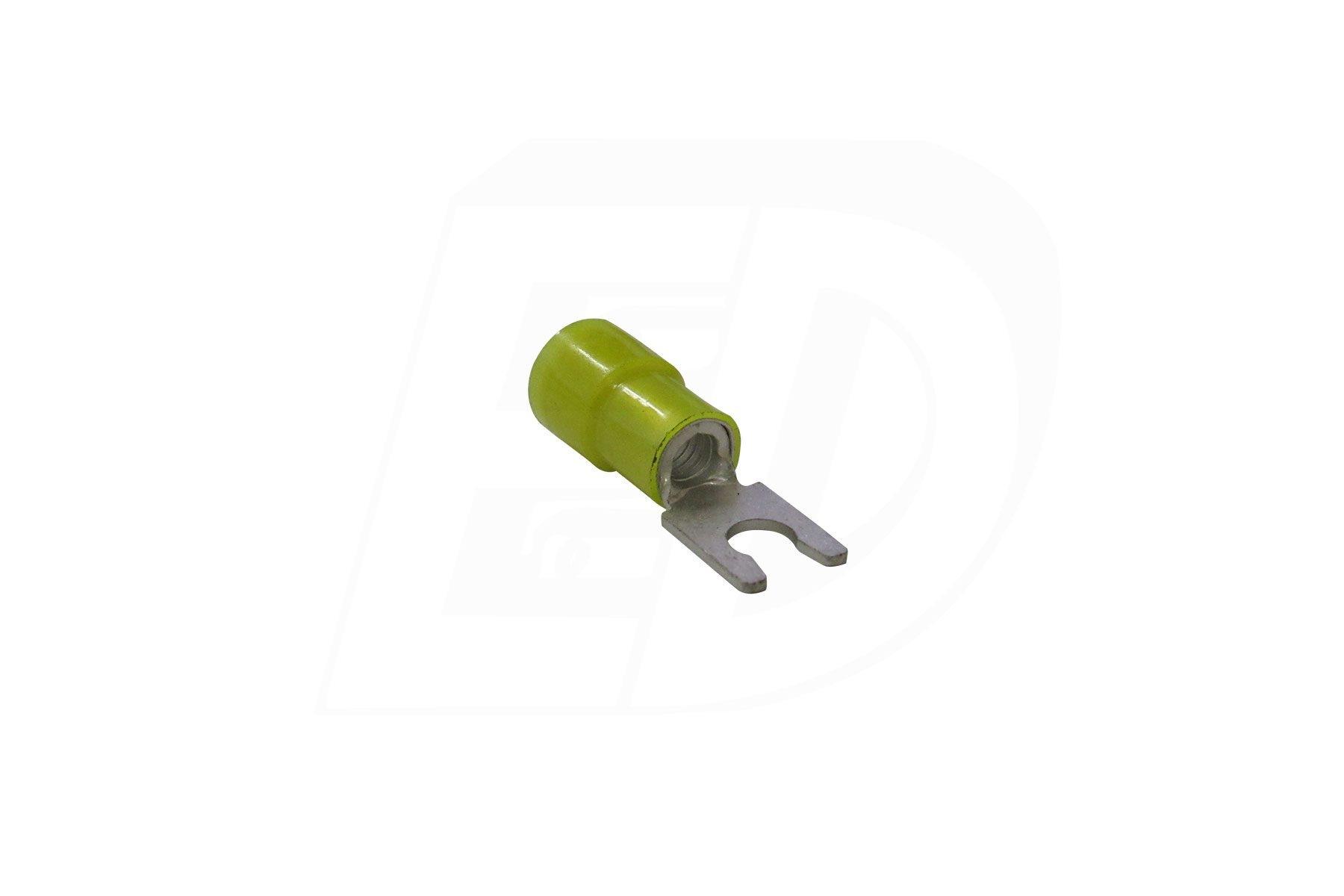 Locking spade terminal with tin plated locking sleeve 12 - 10 AWG