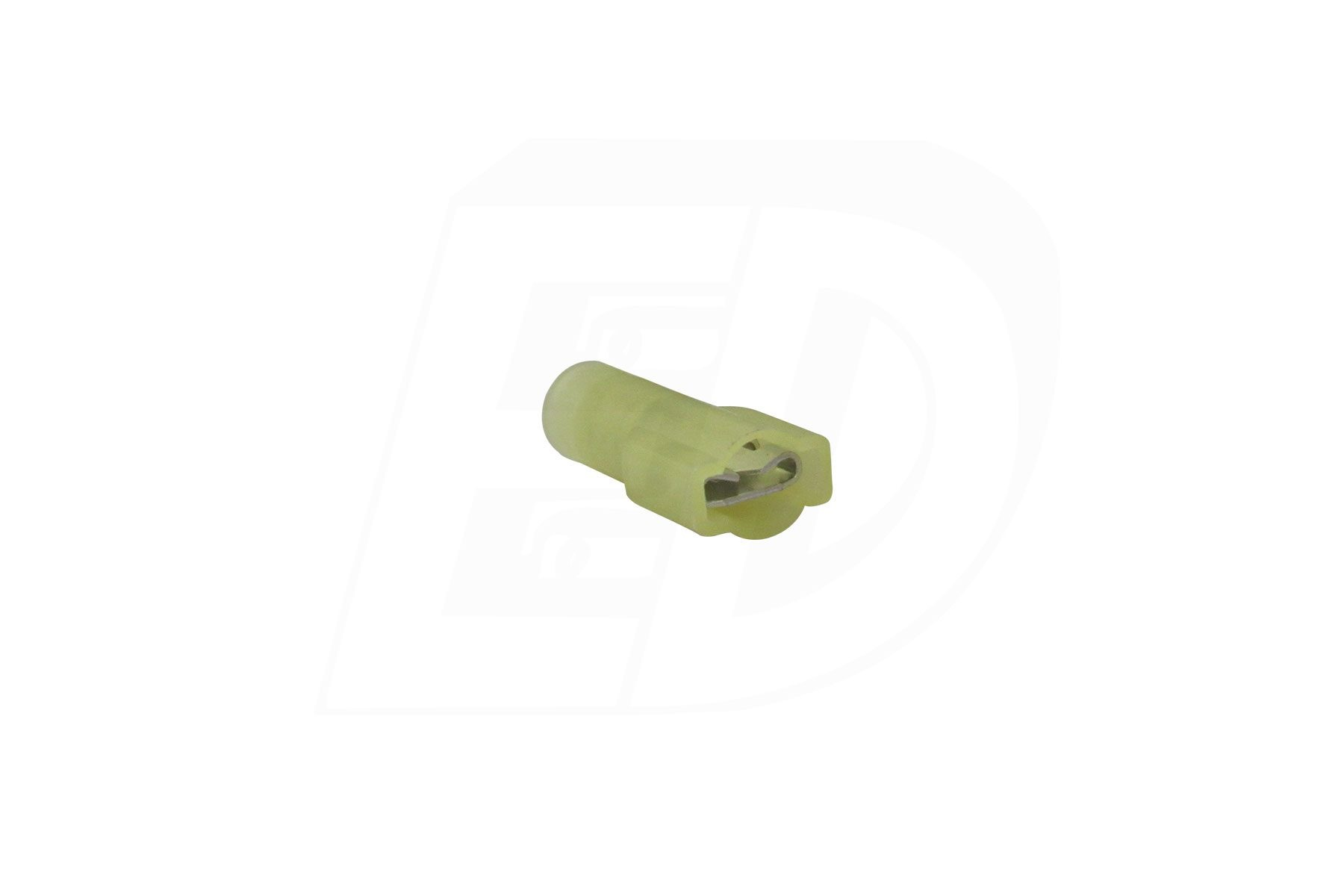 Butted Seam Nylon Insulated Female Flag Quick Disconnect Terminal 12 - 10 AWG