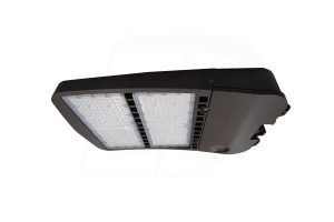 FLH43-300341-5-DB – INTEGRATED LED PARKING LOT LIGHT AND FLOOD LIGHTS WITH MOUNTING BRACKET, DUSK TO DAWN OUTDOOR LIGHT, 1 – 10V CONTINUOUS DIMMING, 300W, 347V, 4000K, 39,000LM