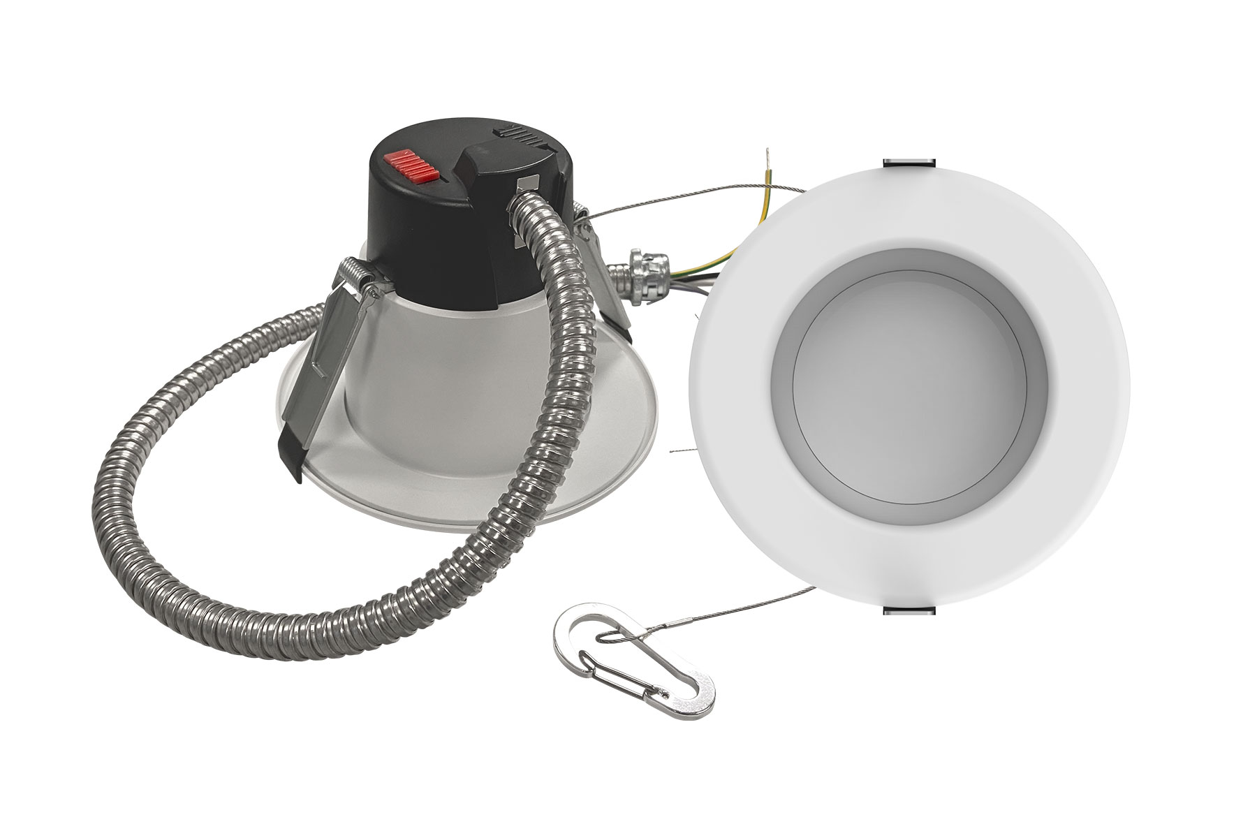 4 Inch. Round Multi-Wattage and Color Selectable Integrated LED Commercial Recessed Lighting