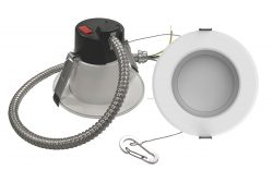 8 Inch. Round Multi-Wattage and Color Selectable Integrated LED Commercial Recessed Lighting