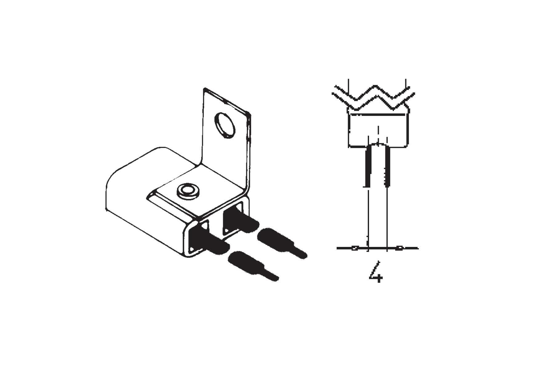 Miniature Halogen G4 Bi-pin Base Socket