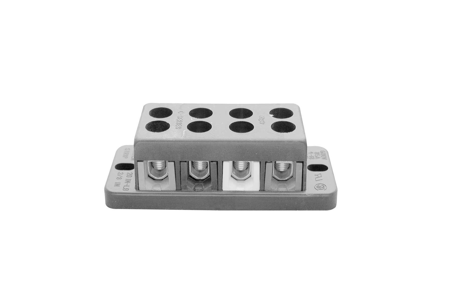 Barrier Style Dead Front Double Row Terminal Block