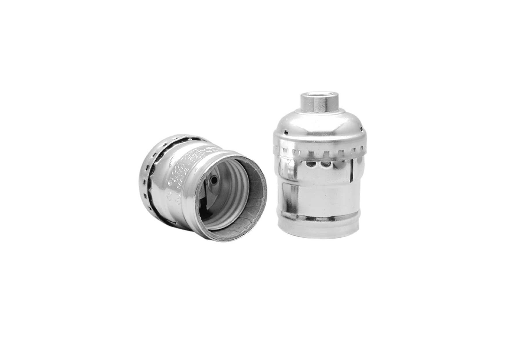 Metal Shell Medium Base Keyless Electrolier Incandescent Light Socket