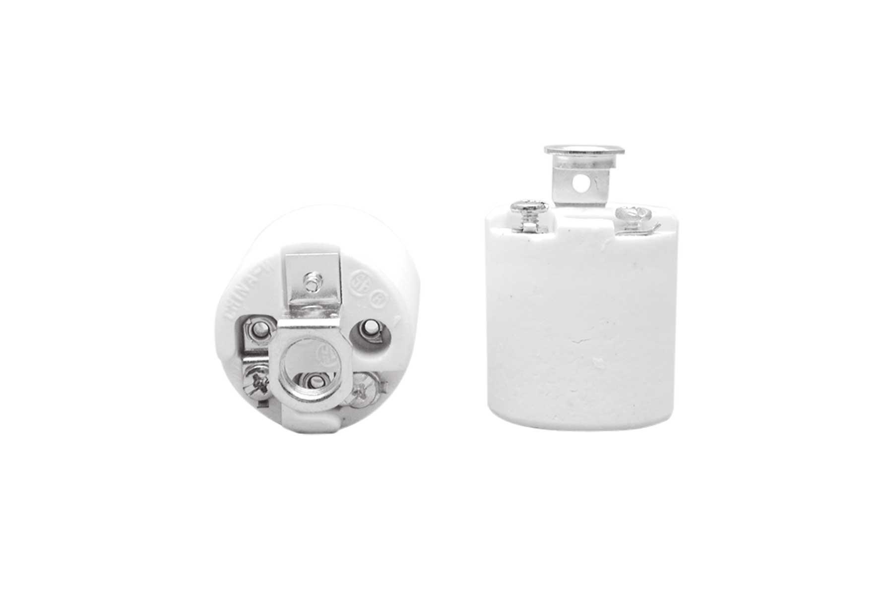 Medium Base Porcelain Keyless Incandescent Light Socket with Screw Terminal