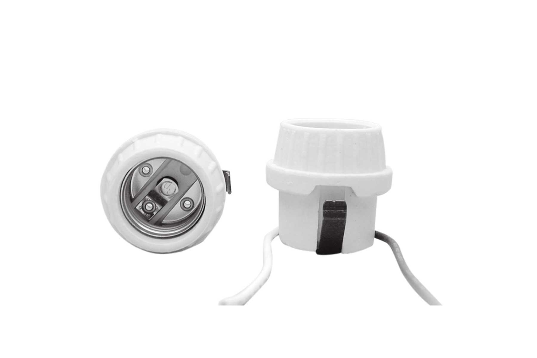 Front Mount Shallow Back Porcelain Keyless Incandescent Light Socket