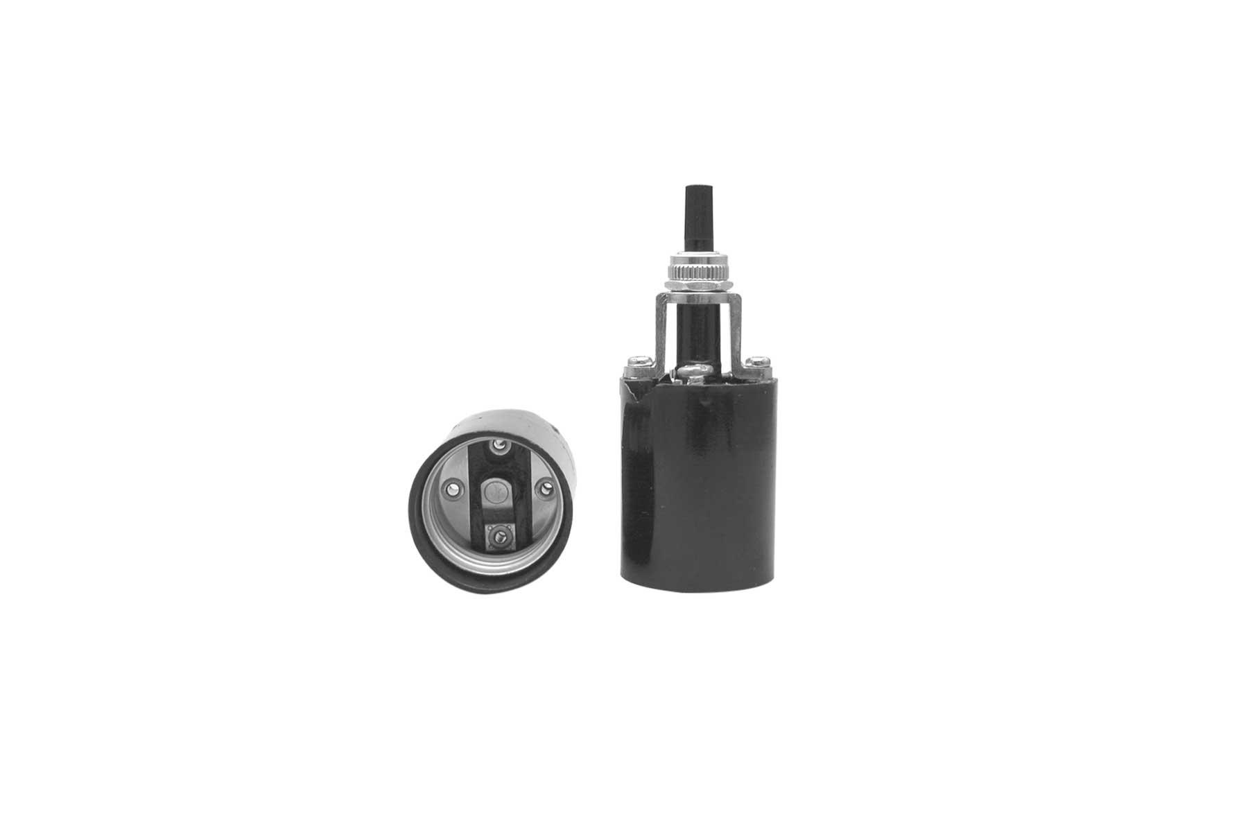 Medium Base Single Light One Piece Bottom Turn Knob Phenolic Incandescent Light Socket