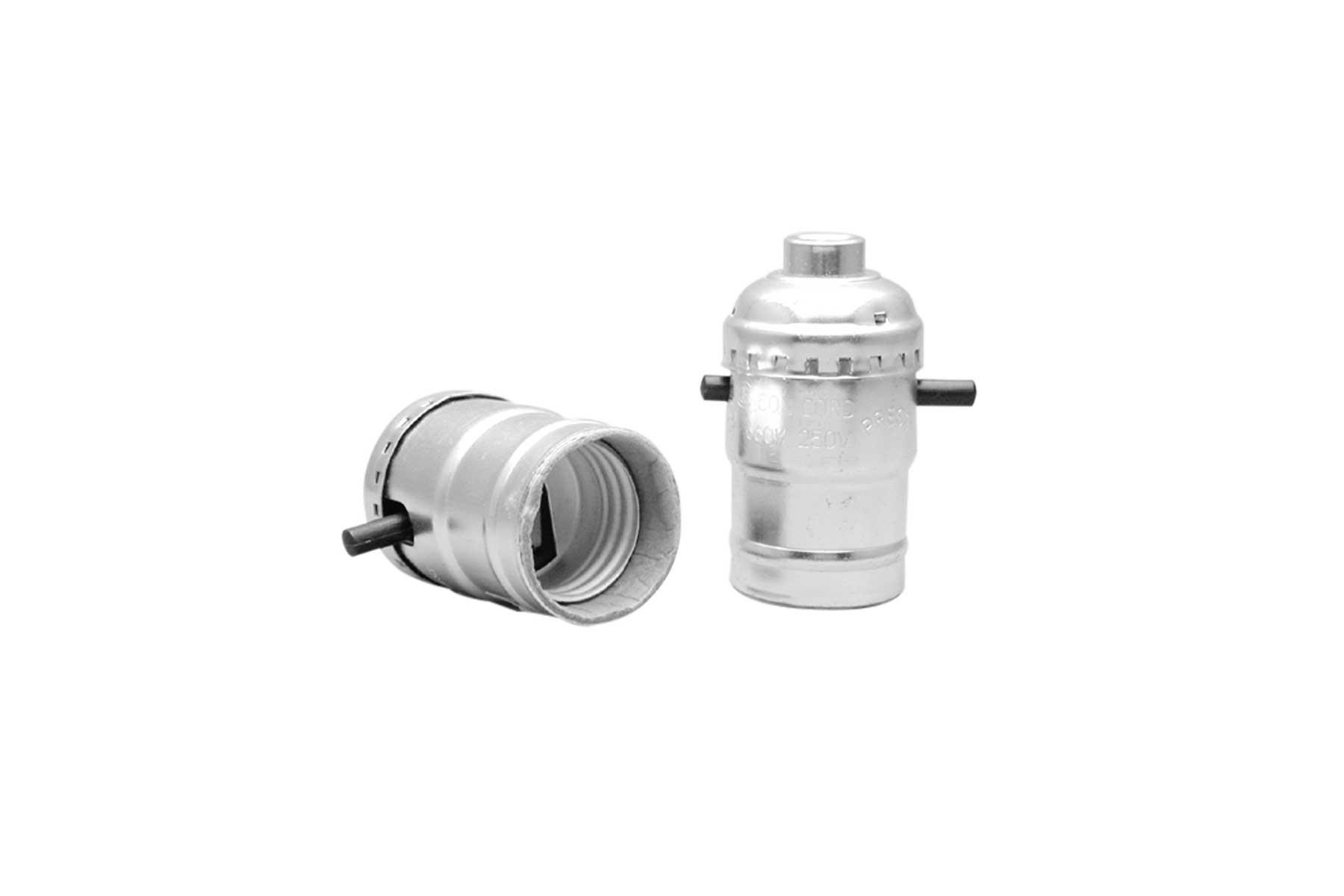 Metal Shell Medium Base Push Thru Electrolier Screw Terminal Incandescent Light Socket