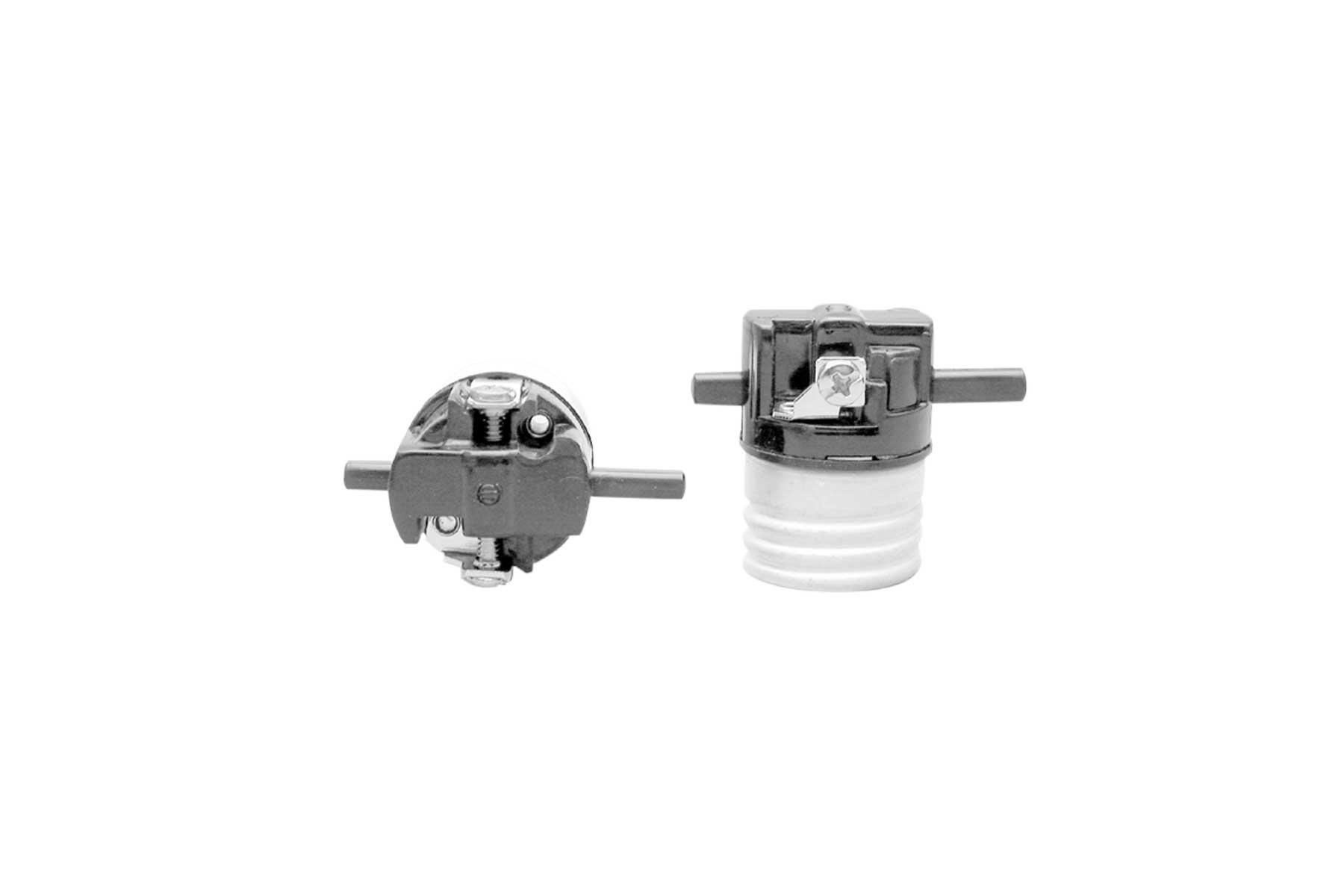 Push Thru Electrolier Screw Terminal for Medium Base Incandescent Light Socket Interior Mechanism