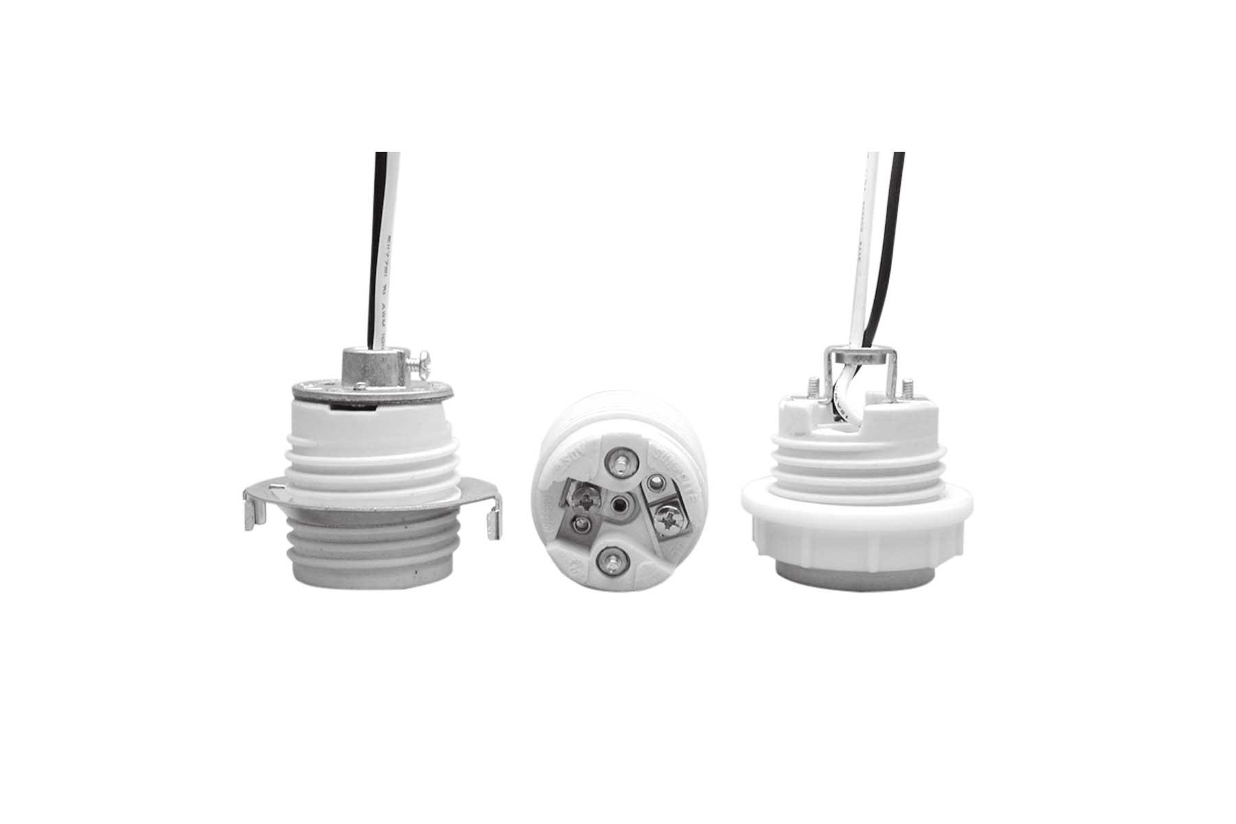 Medium Base Outer Threaded Porcelain Incandescent Light Socket