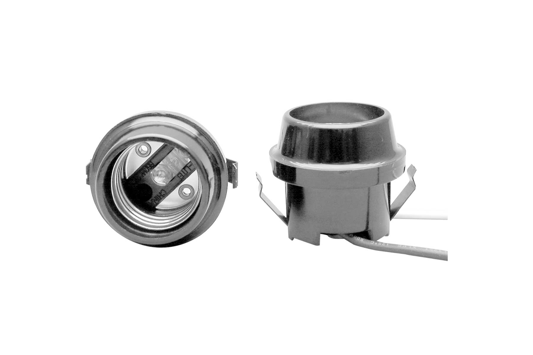Medium Base Tapered Top Flanged Phenolic Keyless Incandescent Light Socket