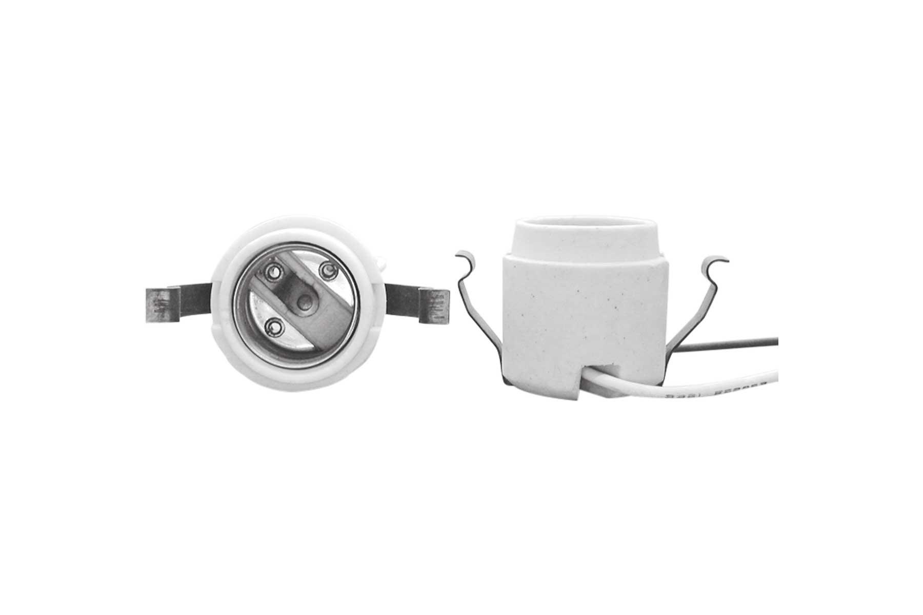 Medium Base Rear Mount Porcelain Keyless Incandescent Light Socket