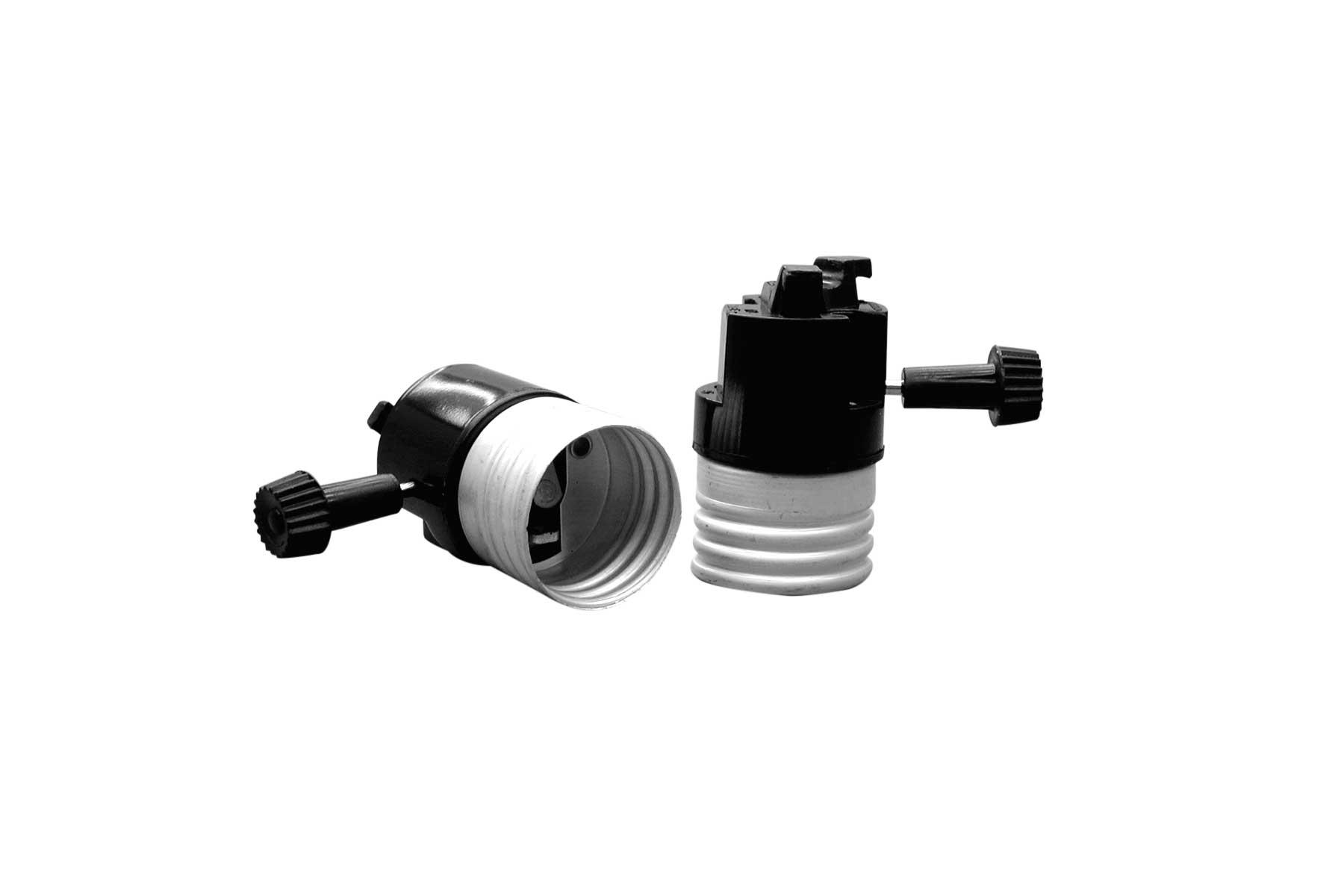 Turn Knob Electrolier for Medium Base Incandescent Light Socket Interior Mechanism