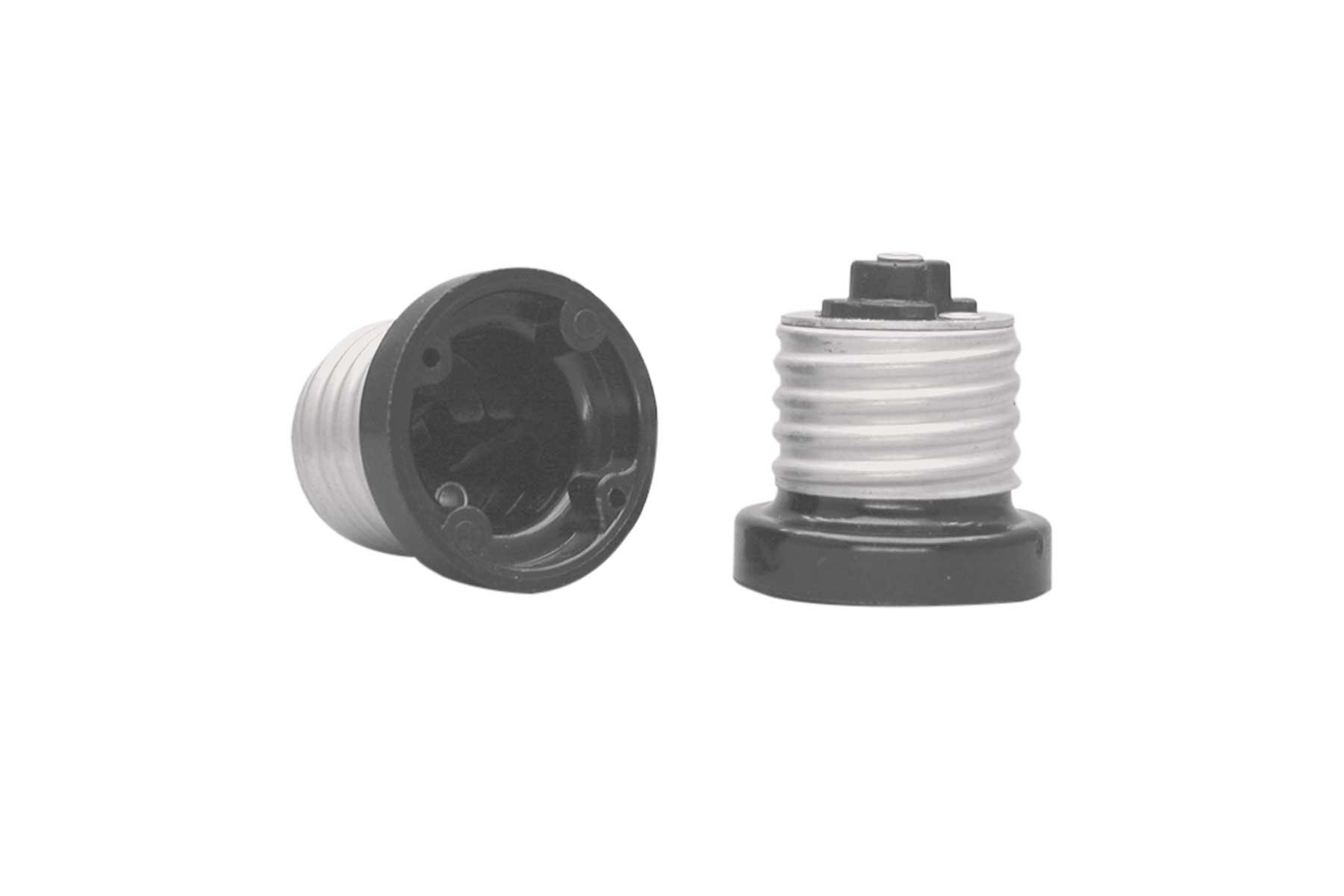 Medium Base Phenolic Flanged Incandescent Light Socket Adapter