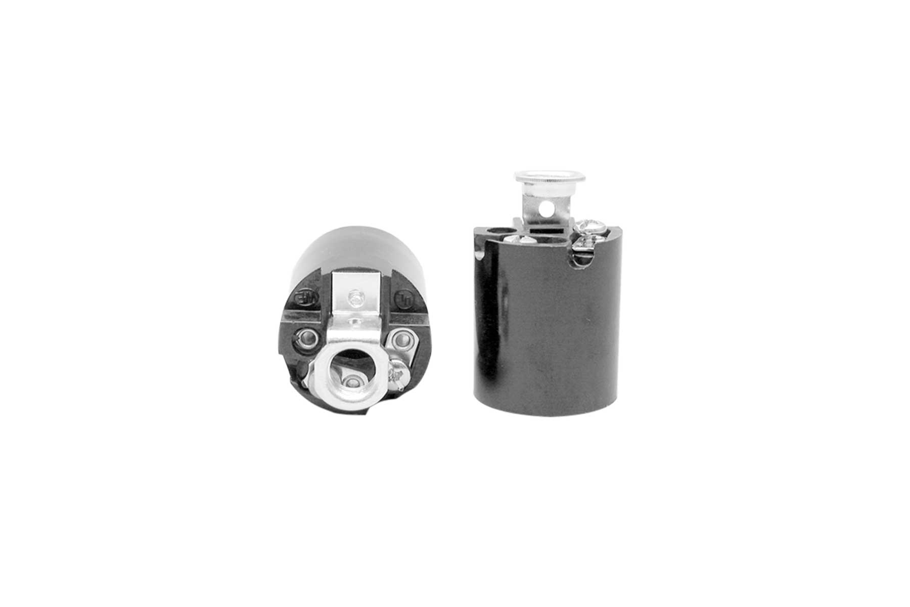 Medium Base Phenolic Keyless Incandescent Light Socket with Screw Terminals
