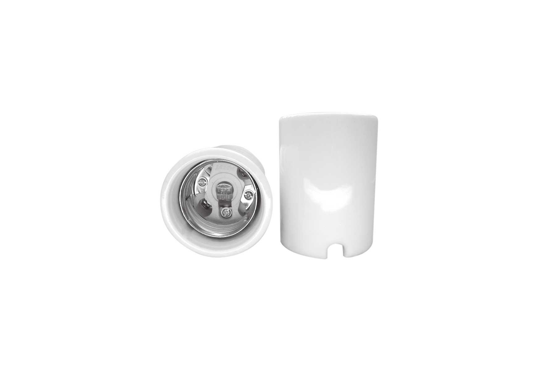 6KV Pulse Rated Mogul Base Porcelain Incandescent Light Socket with Wire Ways
