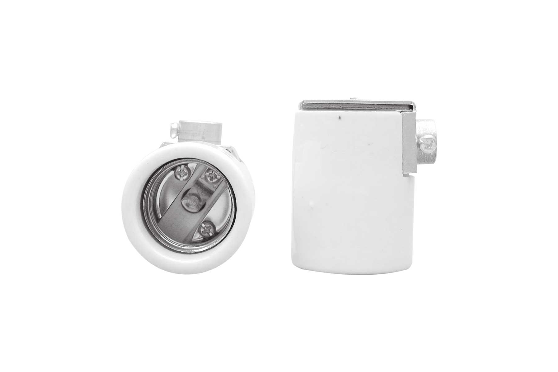 Medium Base Side Outlet Porcelain Keyless Incandescent Light Socket