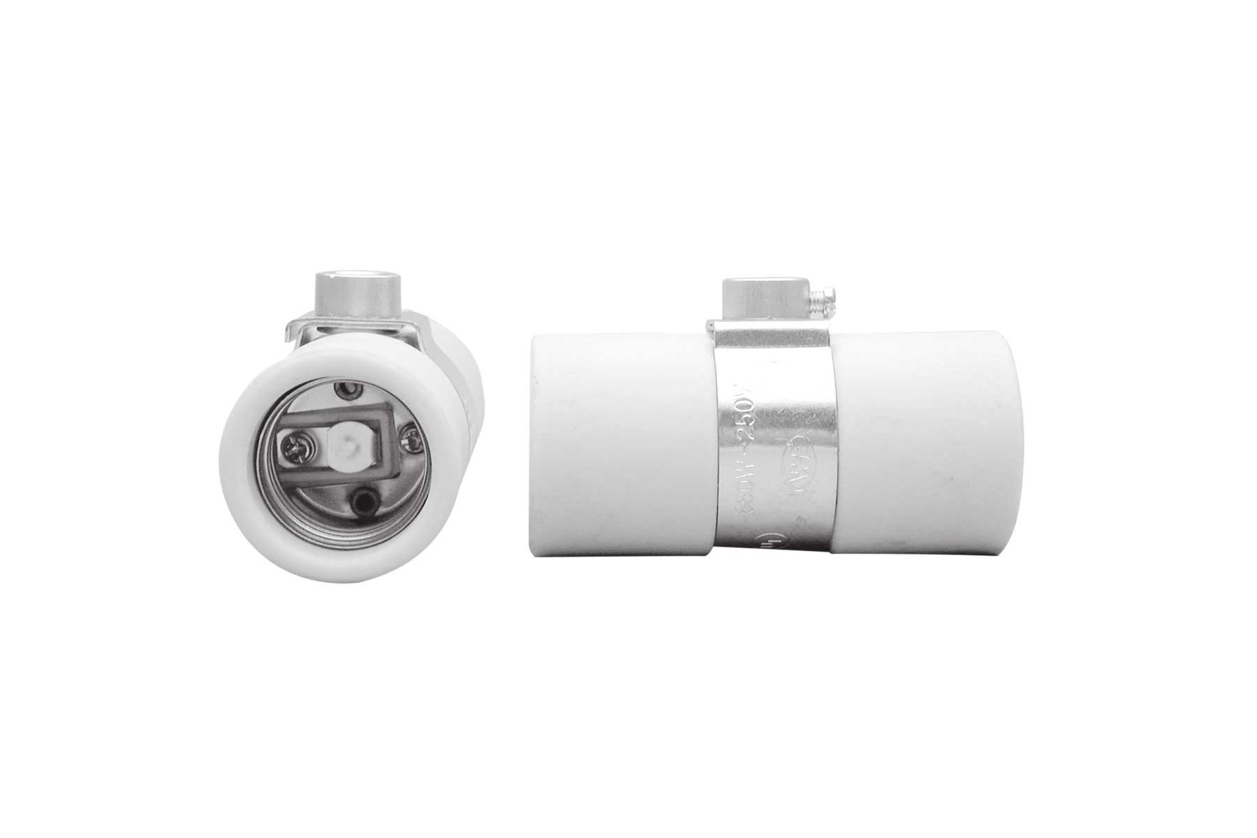 Medium Base Twin Porcelain Keyless Incandescent Light Socket