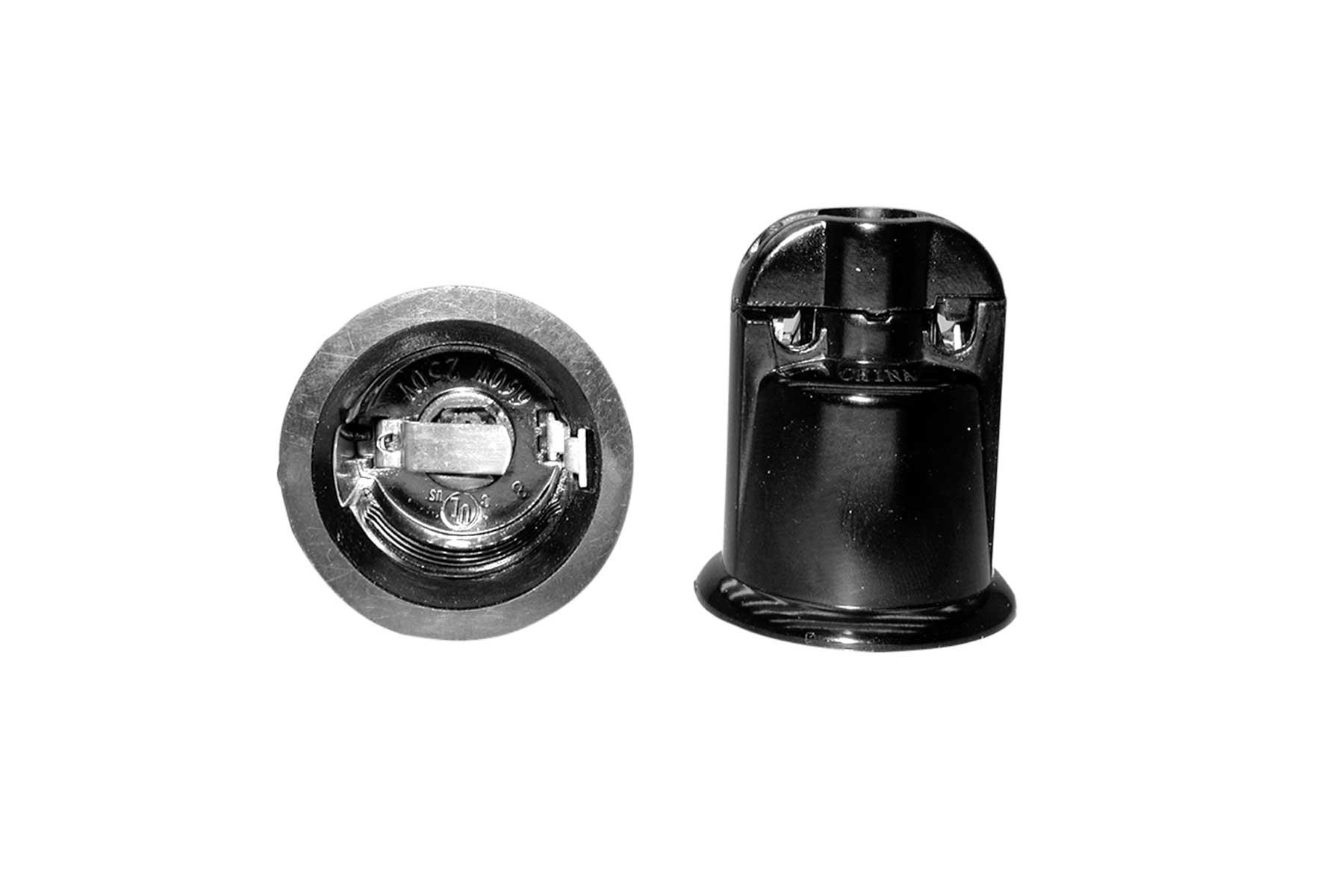 Medium Base Weatherproof Phenolic Pin Type Incandescent Light Socket