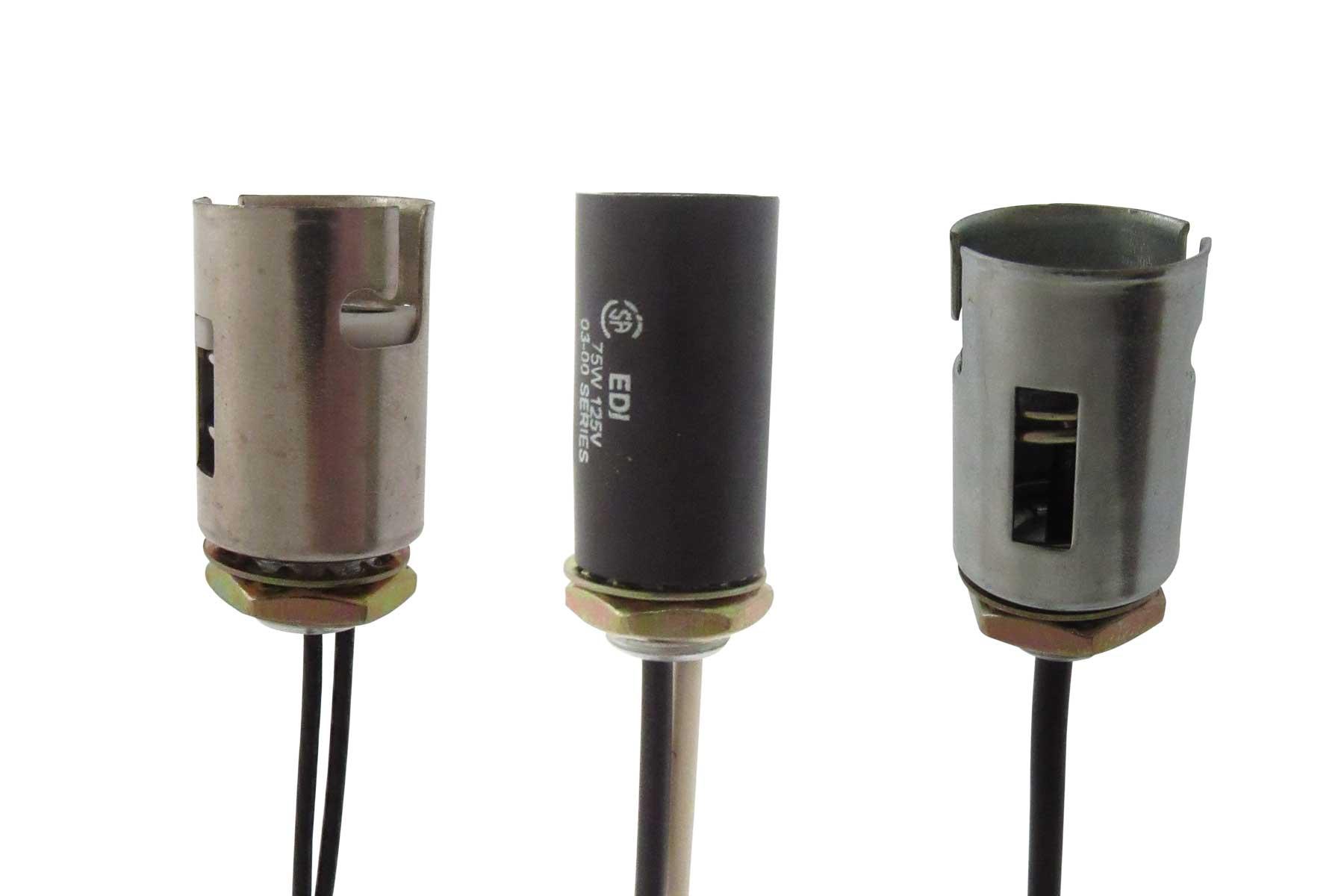 Miniature Bayonet Base threaded bushing socket