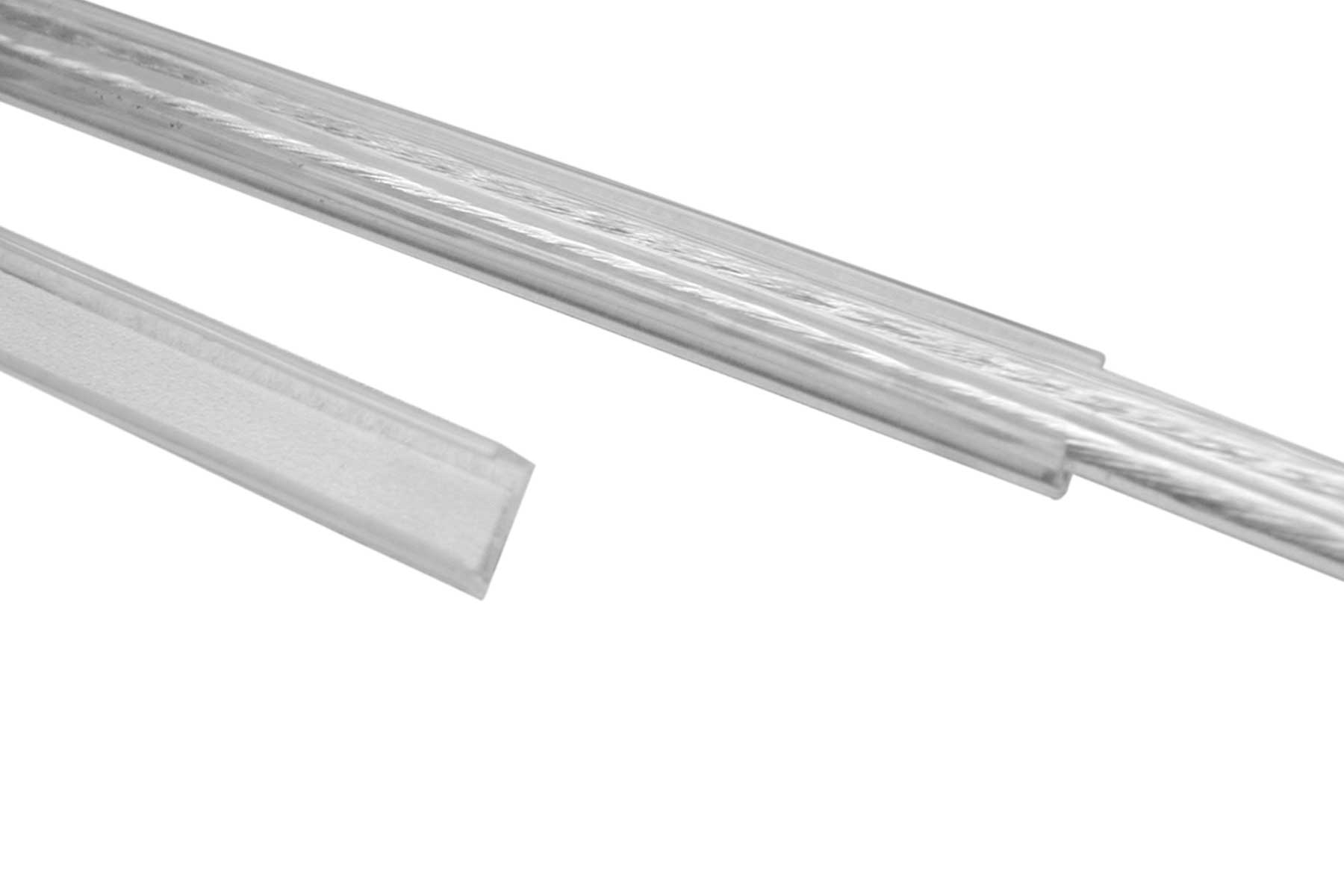 U-Type Transparent Wire Duct with Adhesive Backing