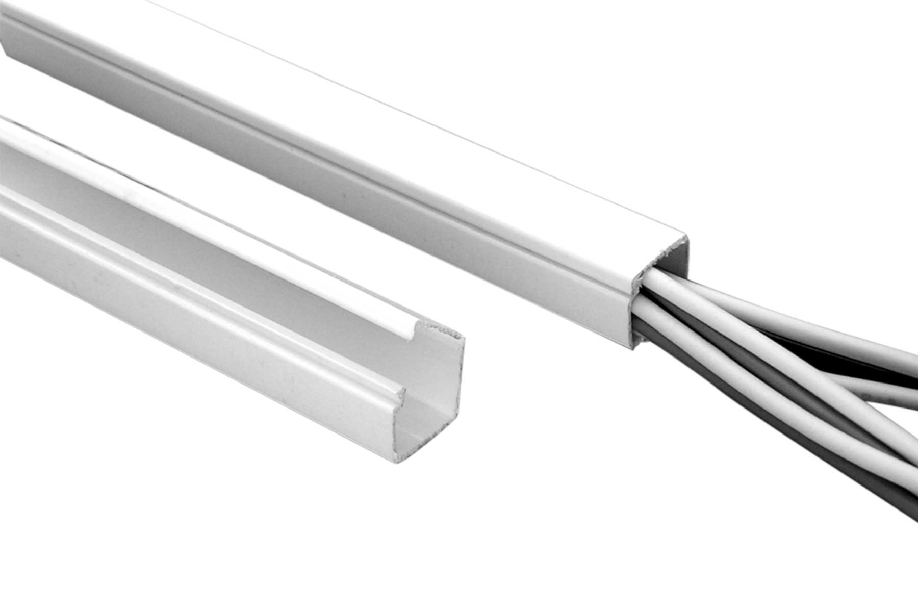 One Piece Solid Wire Duct with Hinged Cover