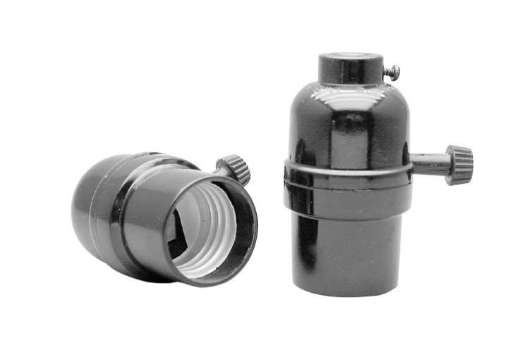 Phenolic Shell Turn Knob Electrolier Medium Base Incandescent Light Socket